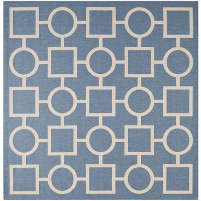 Safavieh Courtyard Collection Drew Geometric Indoor/Outdoor Square Area Rug
