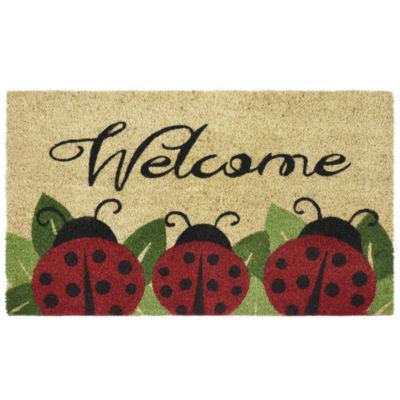 Printed Coir Door Mat - Ladybug