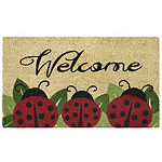 Ladybugs Welcome Rectangular Doormat