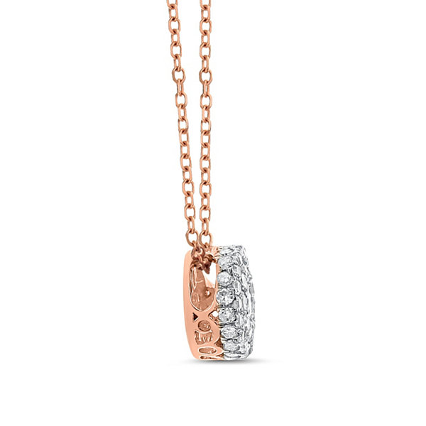 Womens 1/3 CT. T.W. White Diamond 14K Gold Pendant Necklace