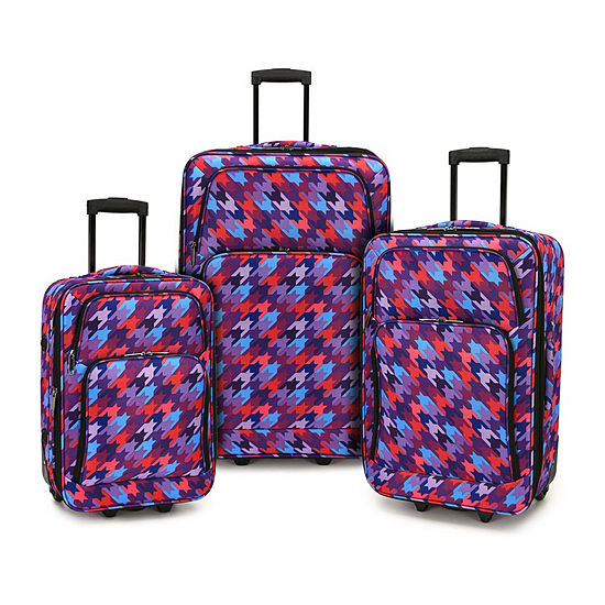 Travelers Choice Houndstooth 3-pc. Luggage Set