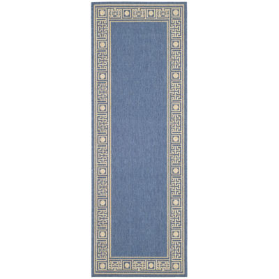 Safavieh Courtyard Collection Cherette Oriental Indoor/Outdoor Runner Rug