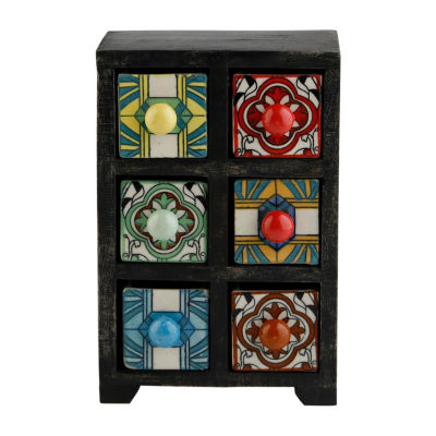 St. Croix Trading Curios 6 Drawer Wood Apothecary Chest