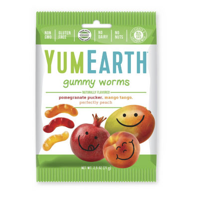YumEarth Gummy Worms - 2.5 oz - 12 Count