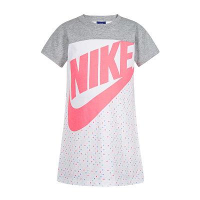 Nike Short Sleeve Shirt Dress - Preschool Girls