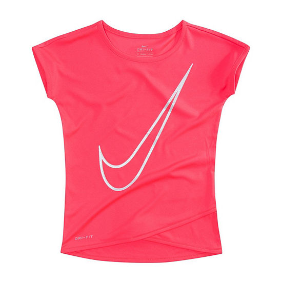 Nike Girls Crew Neck Short Sleeve Tunic Top - Preschool
