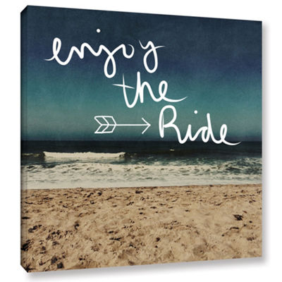 Enjoy The Ride Gallery Wrapped Canvas