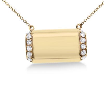 Womens 1/3 CT. T.W. White Diamond 14K Gold Pendant Necklace