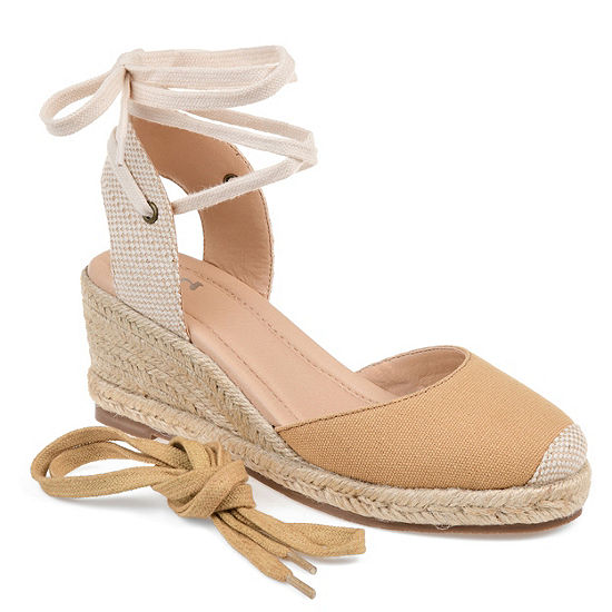 Journee Collection Womens Monte Lace-up Round Toe Espadrille Wedge