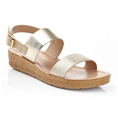 Henry Ferrera Comfort-36/Gold Womens Flat Sandals