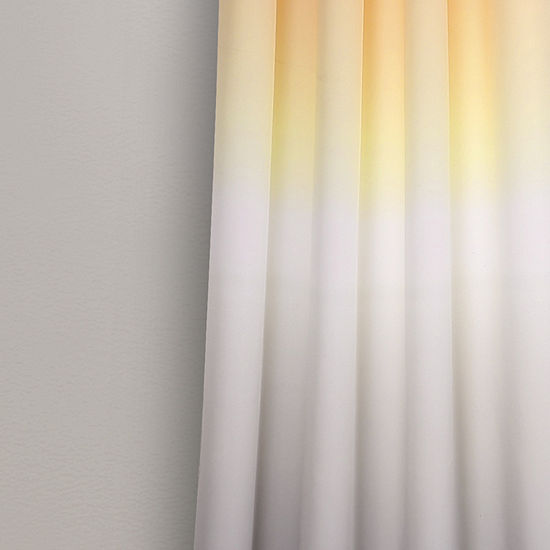 Half Moon Umbre Fiesta Room Darkening Window Curtain Panel