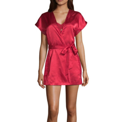 Ambrielle Chiffon Babydoll and Satin Robe Set