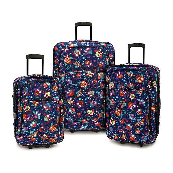 Owls 3-pc. Luggage Set