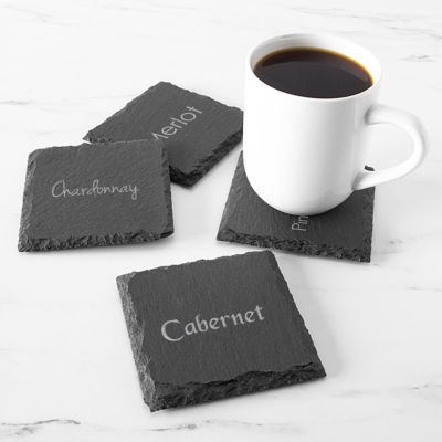 Cathy's Concepts Wine Connoisseur Slate 4-pc. Coasters