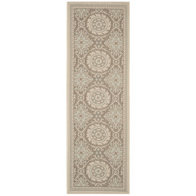 Safavieh Courtyard Collection Roza Geometric Indoor/Outdoor Runner Rug