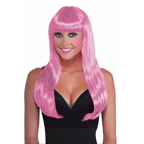 Shop By Color - Pink: Pink Wig Dress Up Accessory