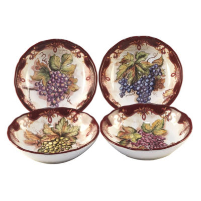 Certified International Vintners Journal 4-pc. Soup Bowl