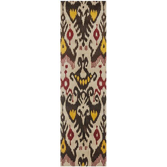 Safavieh Ikat Collection Keila Abstract Runner Rug