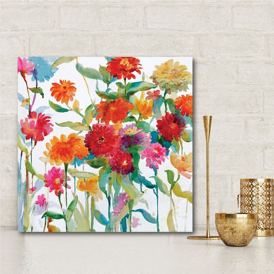 Zinnia Mixer II Canvas Art
