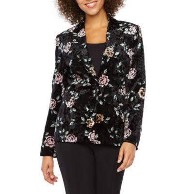 Chelsea Rose Floral Velvet Suit Jacket