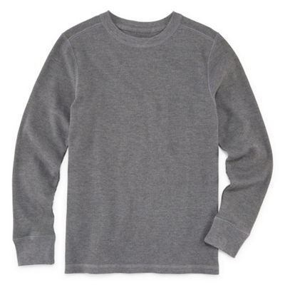 Arizona Boys Round Neck Long Sleeve Thermal Top