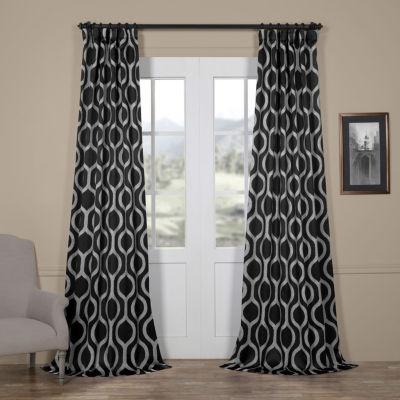 Exclusive Fabrics & Furnishing Cordon Blackout Rod-Pocket/Back-Tab Curtain Panel