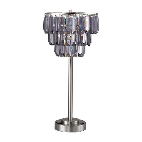 Kiera Table Lamp Removable Chandalier Shade