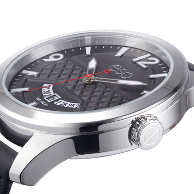 Esq Mens Black Strap Watch-37esq008001a