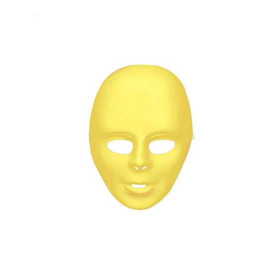 Yellow Face Mask Dress Up Accessory