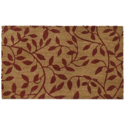 Printed Coir Door Mat - Leaves