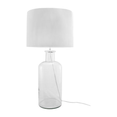 """Watch Hill 14"""" Ella Clear Glass Cotton Shade Table Lamp"""