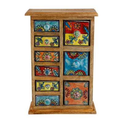 St. Croix Trading Curios 9 Drawer Wood ApothecaryChest
