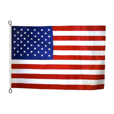 American Flag 10x15 ft. Nylon SolarGuard Nyl-Glo by Annin Flagmakers  100% Made in USA with Sewn Stripes  Embroidered Stars and Roped Heading.  Model2340