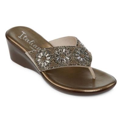 Italiana By Italian Shoemakers Treena Womens Wedge Sandals