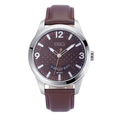 Esq Mens Brown Strap Watch-37esq008101a