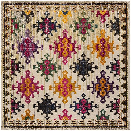 Safavieh Monaco Collection Flint Geometric SquareArea Rug