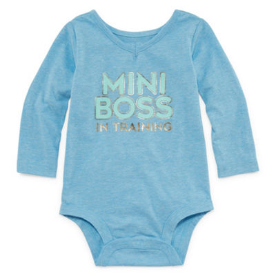 Okie Dokie Long Sleeve V-Neck Bodysuit - Baby Girl NB-24M