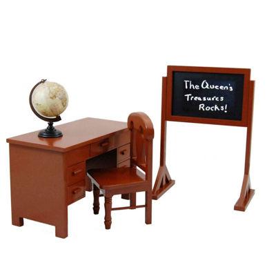 The Queen's Treasures 18 Inch Doll Furniture School Teacher Set
