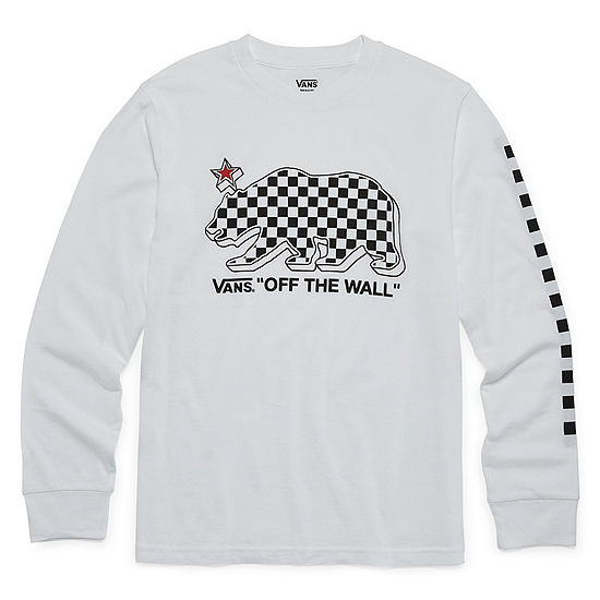Vans Boys Crew Neck Long Sleeve Graphic T-Shirt Big Kid
