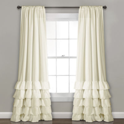 Lush Decor Allison Ruffle Window Curtain Panel Set