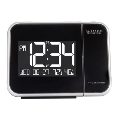 La Crosse Technology Projection Alarm Clock with Indoor Temperature