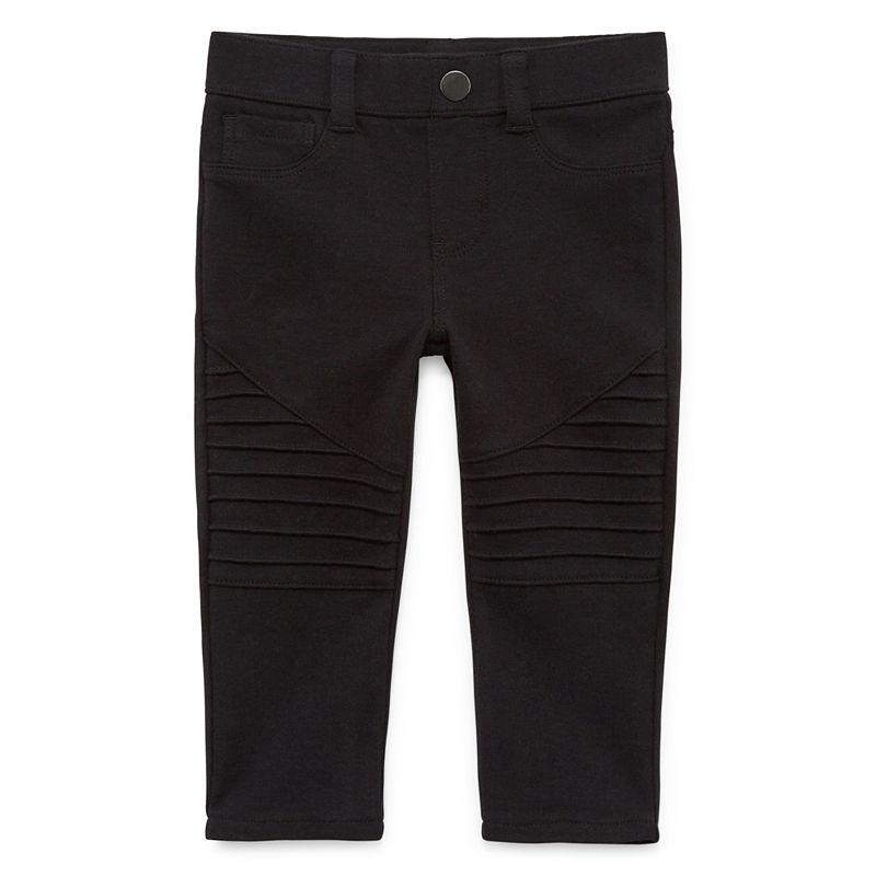 Okie Dokie Black Denim Pull-On Pants, Girls, Black, Size 6 Months