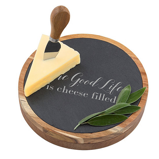 Cathys Concepts 5 Pc Personalized Cheese Board Set