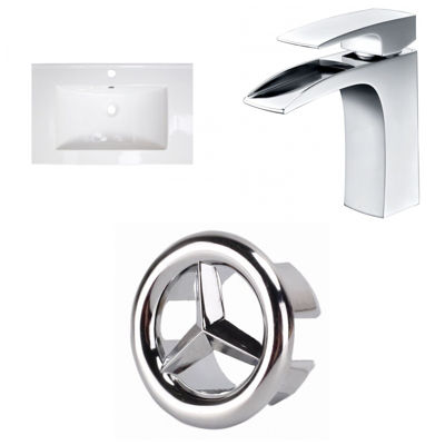 23.75-in. W 1 Hole Ceramic Top Set In White Color- CUPC Faucet Incl.
