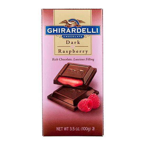 Ghirardelli Chocolate Dark & Raspberry Bar - 3.5 oz - 12 Count