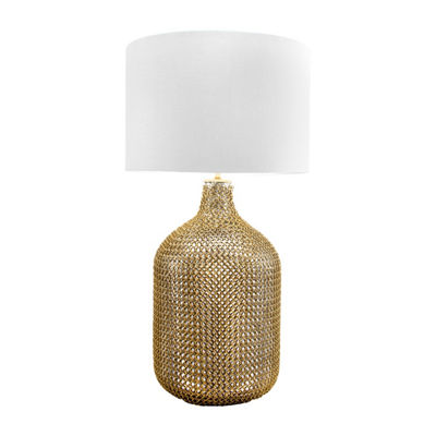 "Watch Hill 29"" Grace Gold Chained Glass Cotton Shade Table Lamp"