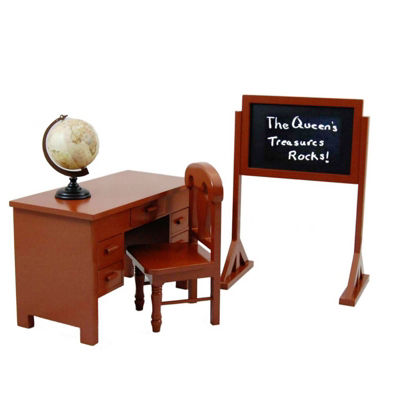 The Queen's Treasures Teacher & Student 18 Inch Doll Desk & More