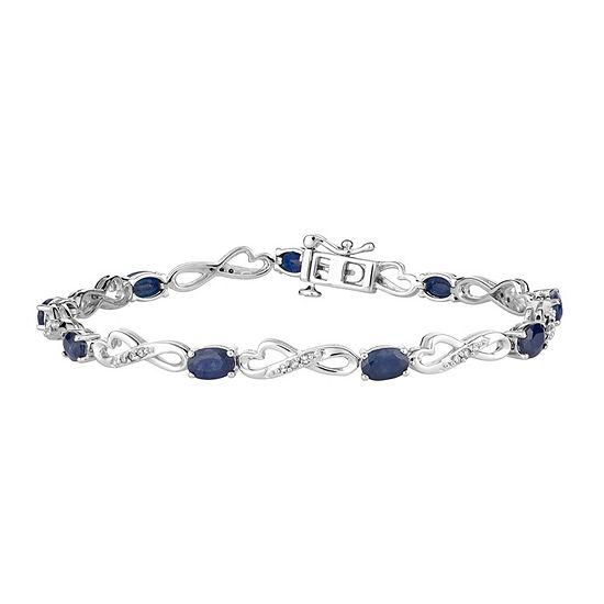 1/4 CT. T.W. Genuine Blue Sapphire 10K White Gold 7.5 Inch Tennis Bracelet