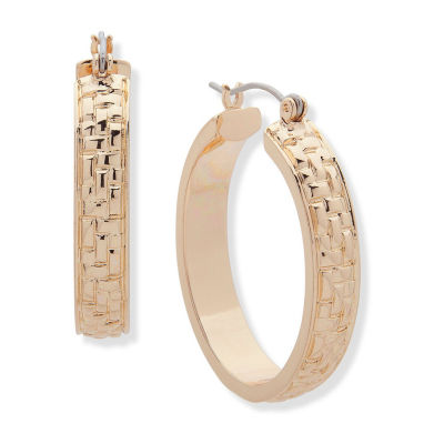 Gloria Vanderbilt 31.8mm Hoop Earrings