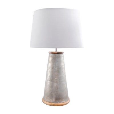 """Watch Hill 25"""" Chloe Wood Metal Cotton Shade Table Lamp"""